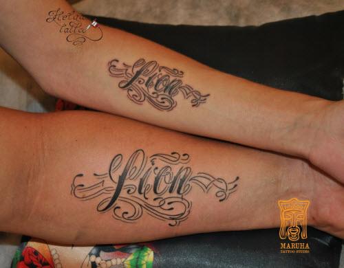 Татуировка с именем мария фото