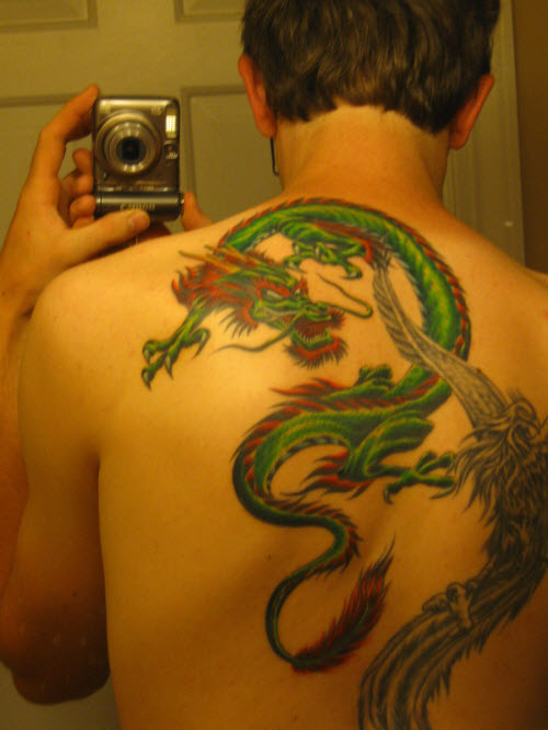 Тату дракон на ягодице фото - 3