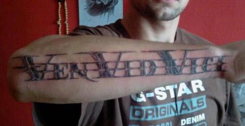 Тату фото мужское надписи и обозначения - 6
