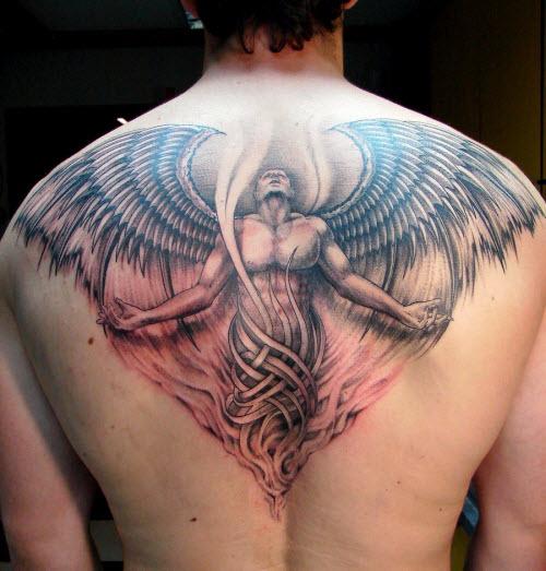 Тату фото на пояснице ангел - 9