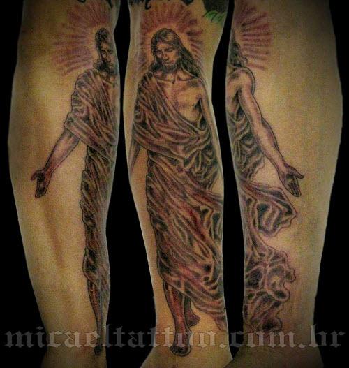 Тату иисус на предплечье фото