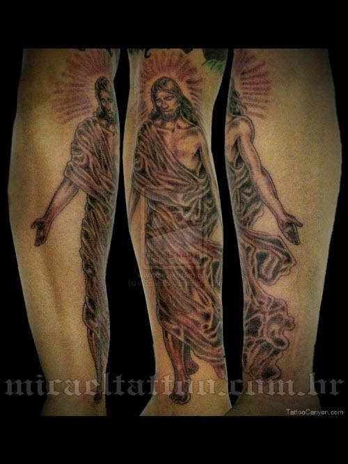 Тату иисус на предплечье фото - 6