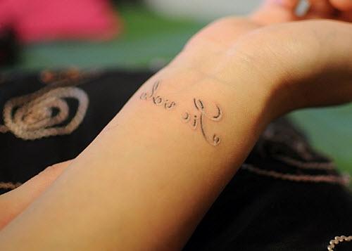 Тату красивая надпись на руке фото - 3