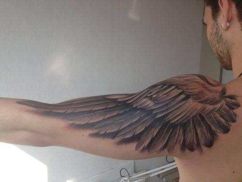 Тату крылья мужские фото - 2