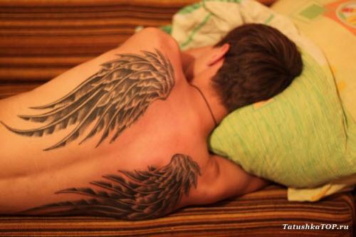 Тату крылья мужские фото - 4