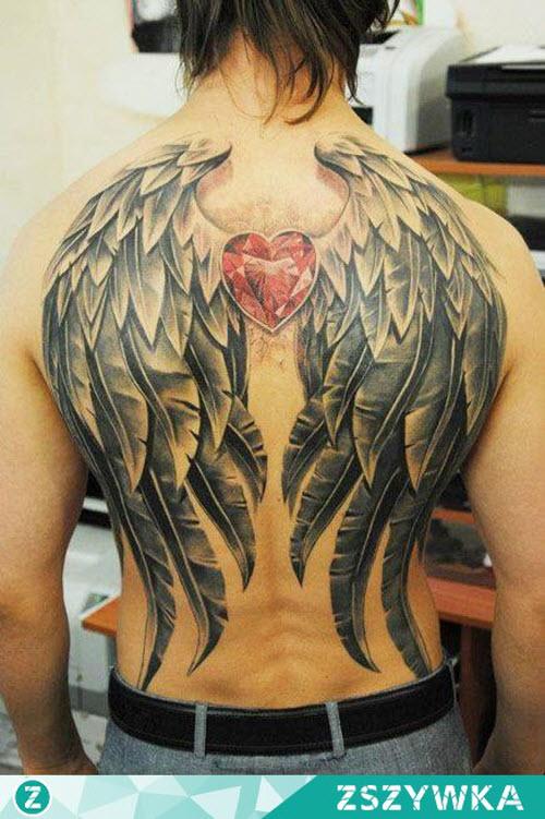 Тату крылья мужские фото - 6