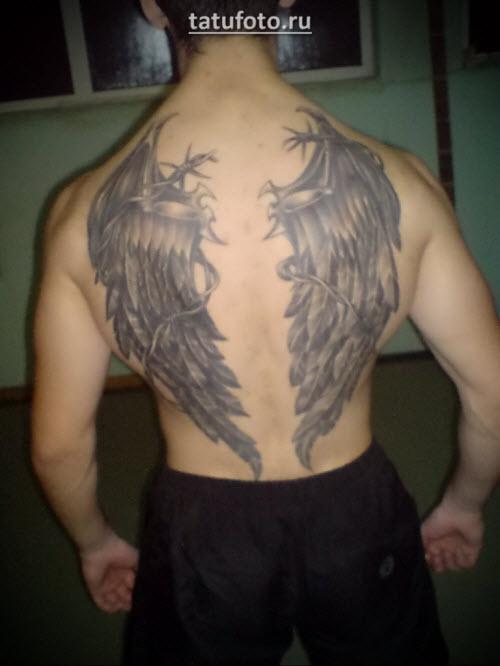 Тату крылья мужские фото - 8
