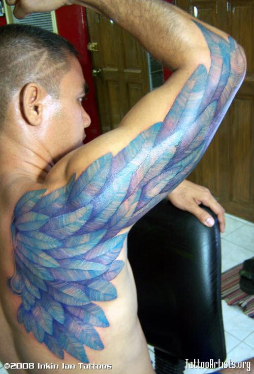 Тату крылья валькирии фото - 1