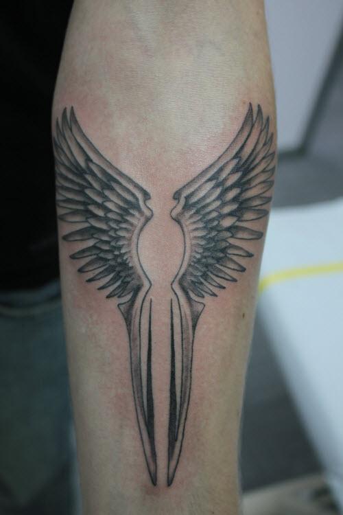 Тату крылья валькирии фото - 9