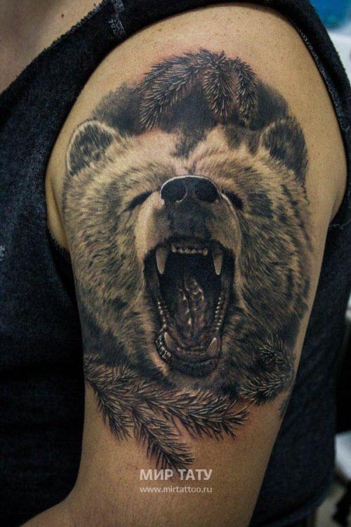 Тату медведь и кольчуга фото - 2