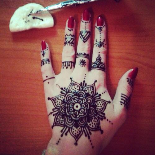 Тату мехенди фото на пальцах - 3