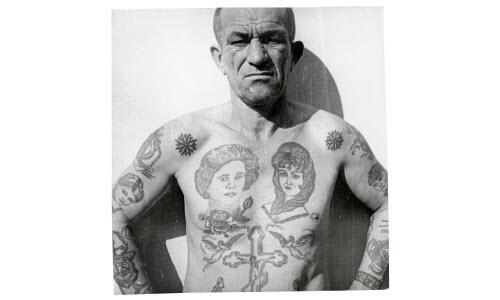 Тату на ключице тюремные фото - 4