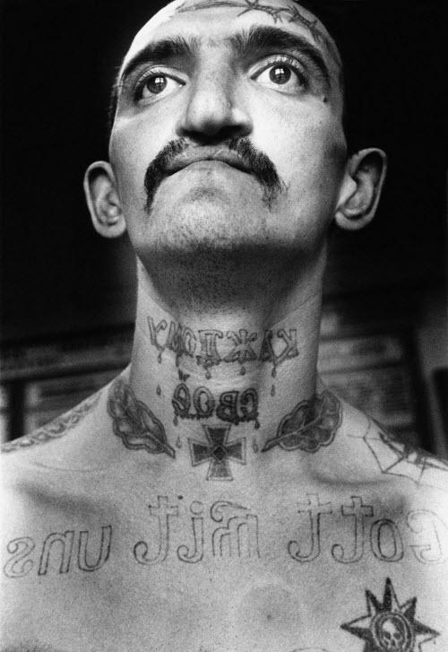 Тату на ключице тюремные фото - 5