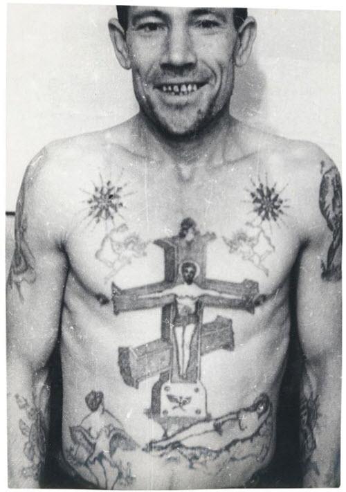 Тату на ключице тюремные фото - 7