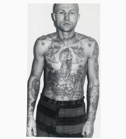 Тату на ключице тюремные фото - 8