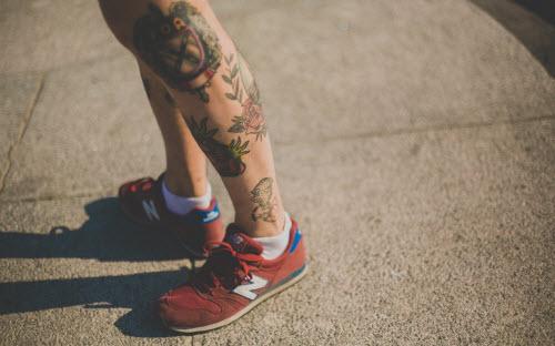 Тату на ноге ниже колена фото - 6