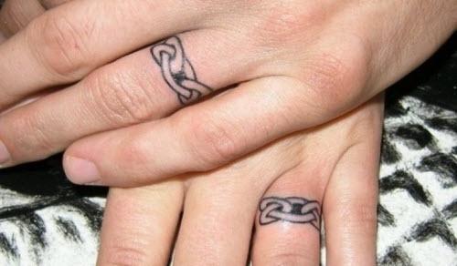 Тату на пальце кольцо фото