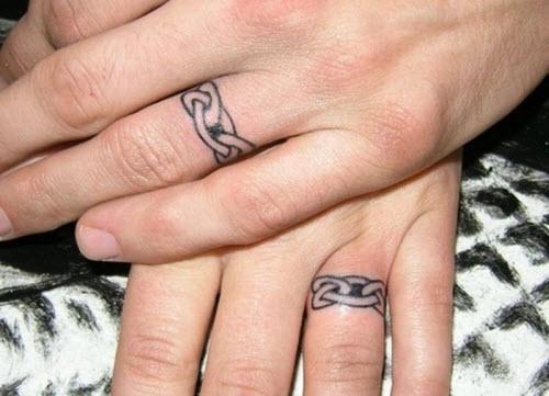 Тату на пальце кольцо фото - 1
