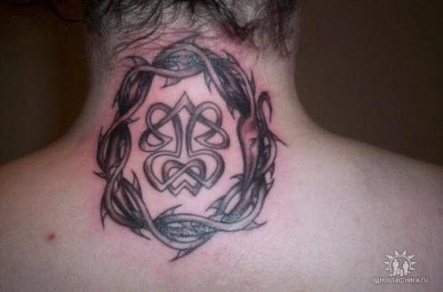Тату на шею кельтский узор фото - 4