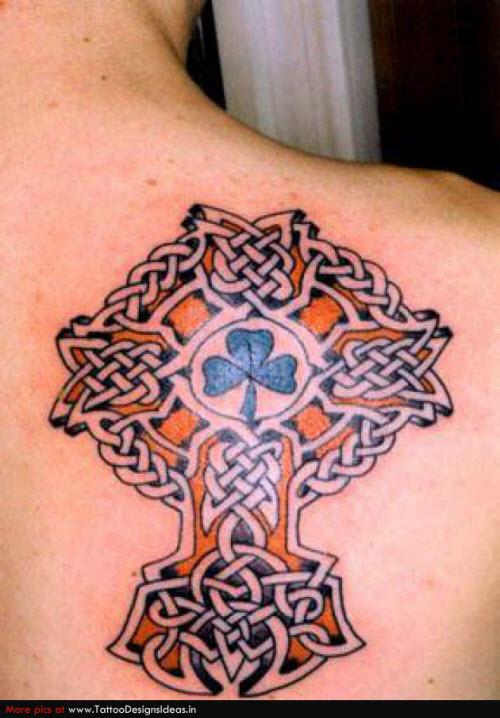 Тату на шею кельтский узор фото - 7