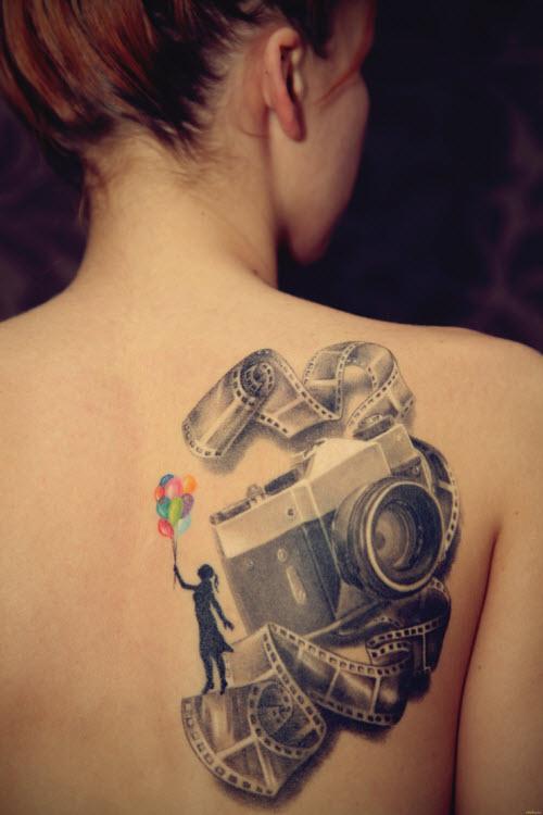 Тату на спину для девушек фото - 6