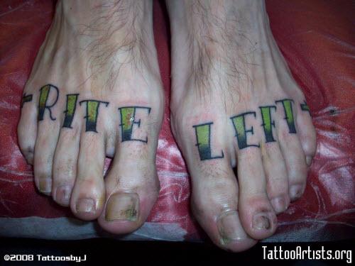Тату надписи на ногах мужские фото - 9