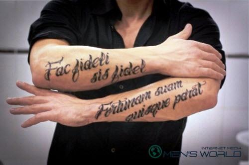 Тату надписи с переводом для мужчин фото на руке - 3