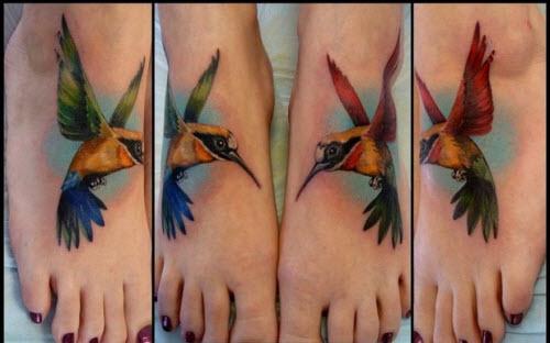 Тату птицы на стопе фото - 6