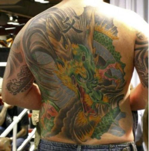 Тату с драконами на спине фото - 6