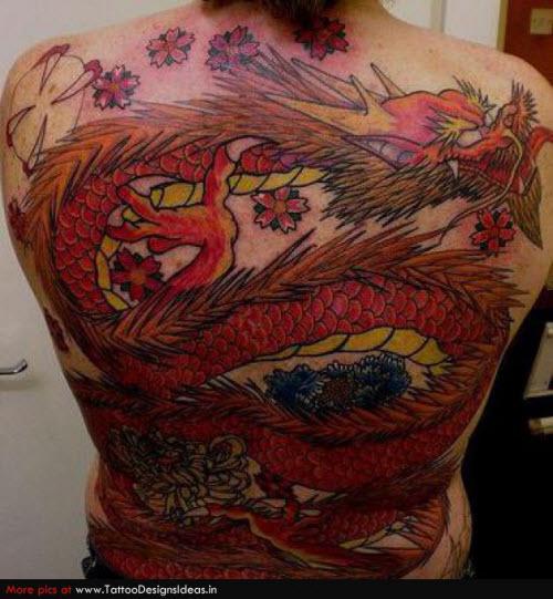Тату с драконами на спине фото - 7