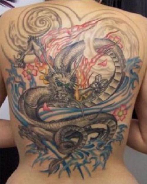 Тату с драконами на спине фото - 9