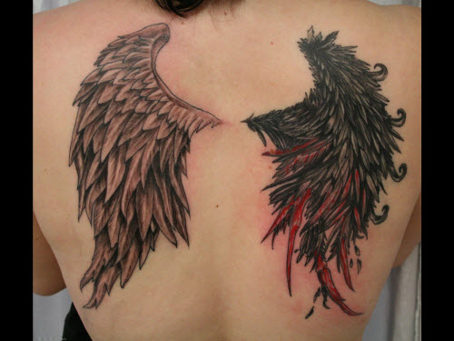 Тату с крыльями на спине фото