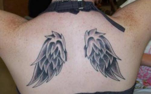 Тату с крыльями на спине фото - 2