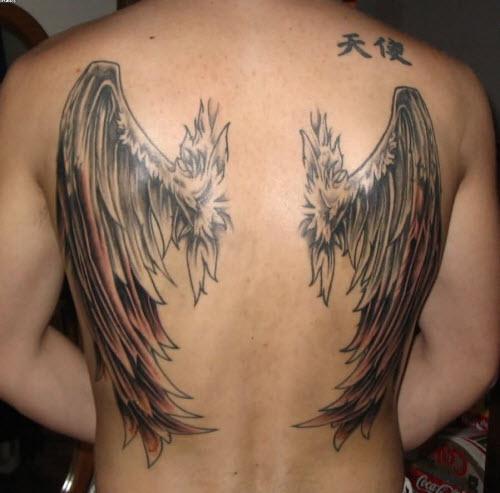 Тату с крыльями на спине фото - 4