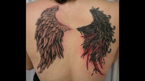 Тату с крыльями на спине фото - 5