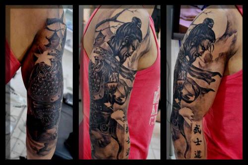 Тату самурай на плече фото - 1