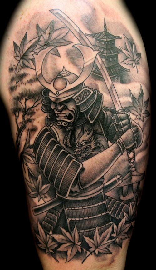 Тату самурай на плече фото - 2