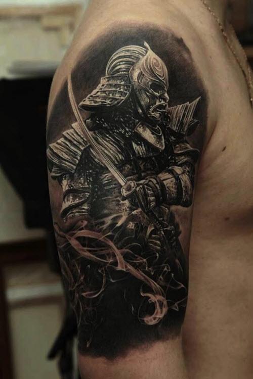 Тату самурай на плече фото - 5