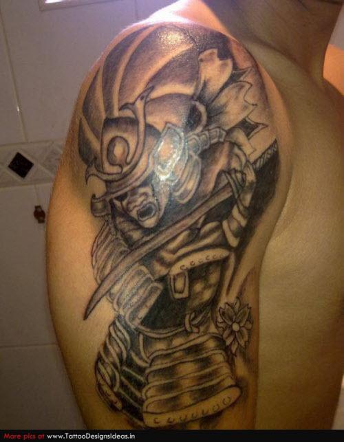 Тату самурай на плече фото - 6