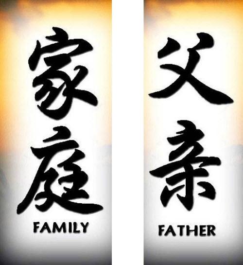 Тату семья иероглиф фото - 6