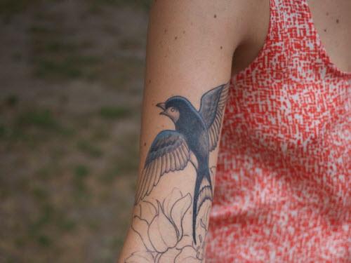 Тату синяя птица фото - 8