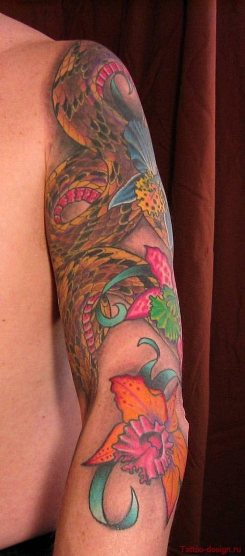 Тату со змеей фото на руке - 6