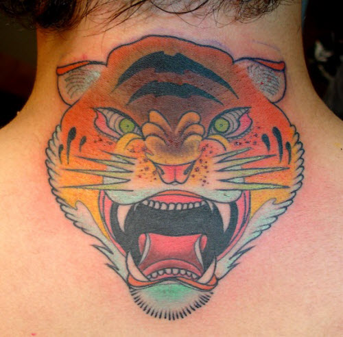 Тату тигр на пояснице фото - 2