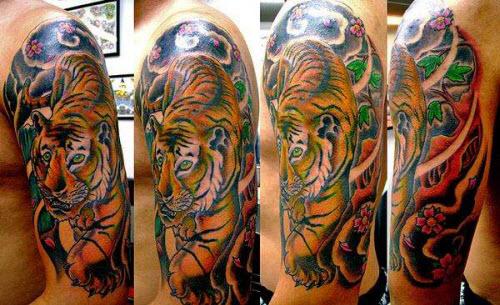 Тату тигра в японском стиле фото - 7
