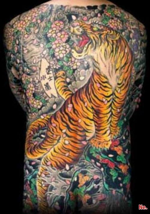 Тату тигра в японском стиле фото - 9