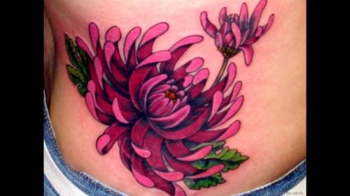 Тату цветной цветок фото - 6