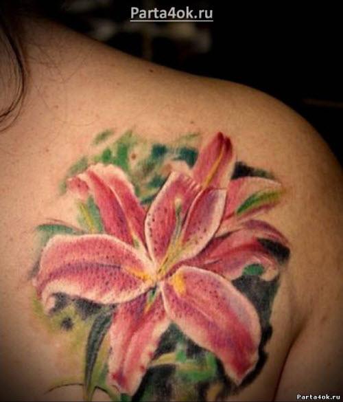 Тату цветок лилия фото