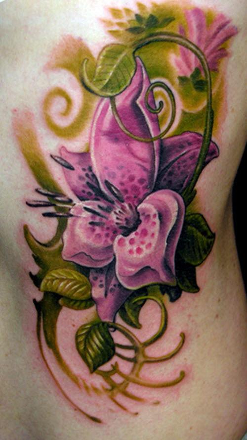 Тату цветок лилия фото - 2