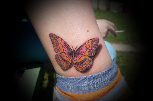Цветное тату на стопе фото - 8