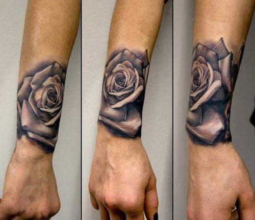 Эскизы тату роз на руку фото - 1